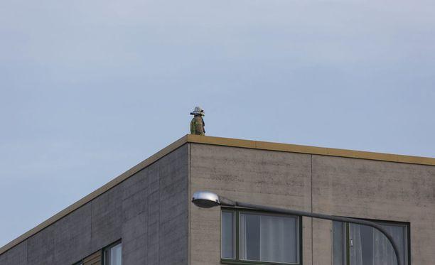 Pelastuslaitoksen mukaan katolta ei löytynyt ketään.