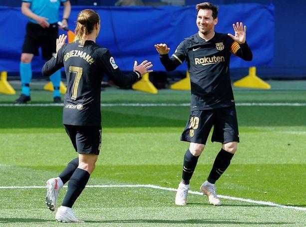 Antoine Griezmannilla ja Lionel Messillä oli aihetta riemuun sunnuntaina.