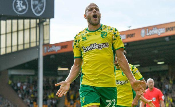 Teemu Pukki osui jälleen Norwichin paidassa.