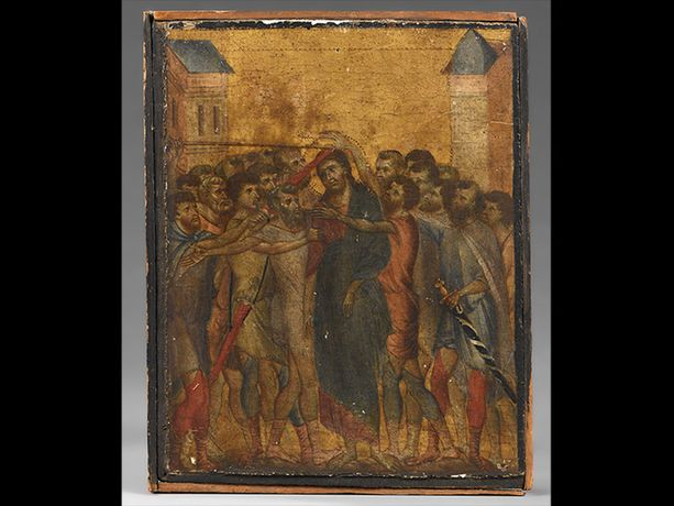 Italialaisen Cimabuen Kristusta pilkataan -niminen maalaus myytiin sunnuntaina huutokaupassa 24 miljoonalla eurolla.