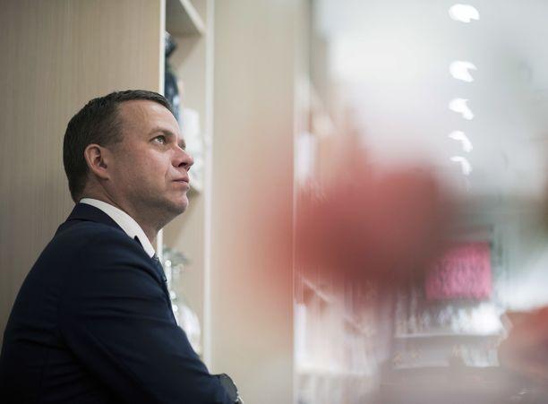 Kokoomuksen puheenjohtaja, kansanedustaja Petteri Orpo.