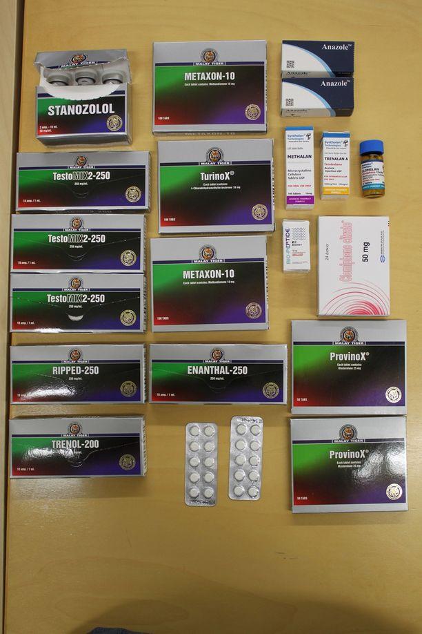 Dopingainepakkauksia.