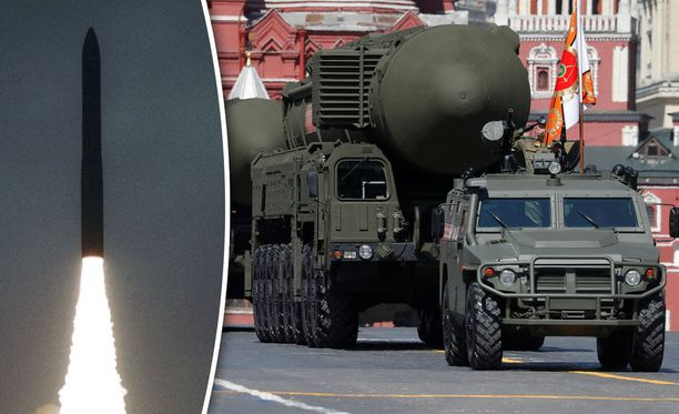 Venäjä on toistuvasti esitellyt ydinasearsenaaliaan. Kuvassa mannertenvälisiä ballistisia Topol -ryhmän ohjuksia.