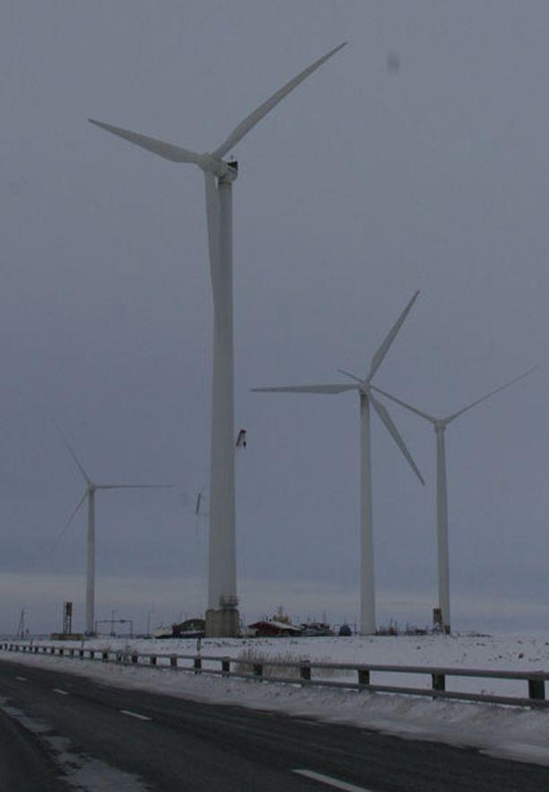 Winwindin tuulivoimaa Oulunsalossa.