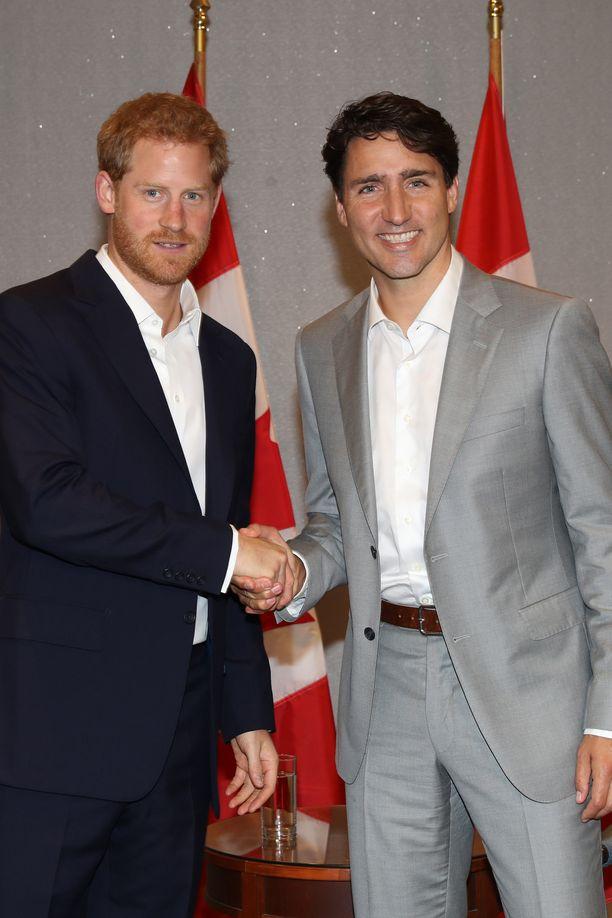 Prinssi Harry on tavannut Justin Trudeaun useamman kerran.