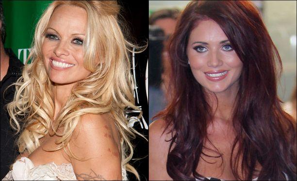 Pamela Anderson ja Amy Childs ovat peliyhtiön voittajasuosikit.