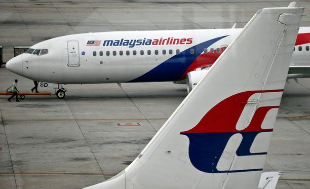 Malaysian Airlinesin lento MH370 katosi maaliskuussa 2014. Kuvituskuva.