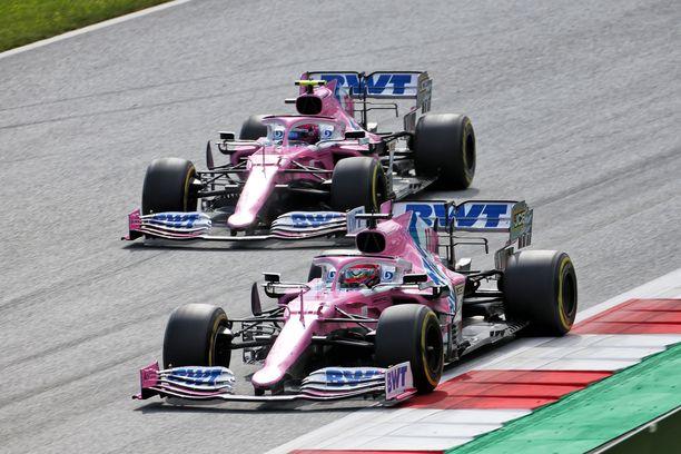 Sergio Perezin ja Lance Strollin autot todettiin sääntöjen vastaisiksi.