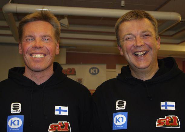 Ismo Hämäläinen (vas.) ja Reijo Jylhä vetivät hiihtomaajoukkuetta 2000-luvun alussa. Kuva vuodelta 2004.
