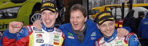 Jari-Matti Latvalan, Ford-pomo Malcom Wilsonin ja Mikko Hirvosen työt ensi kaudella.
