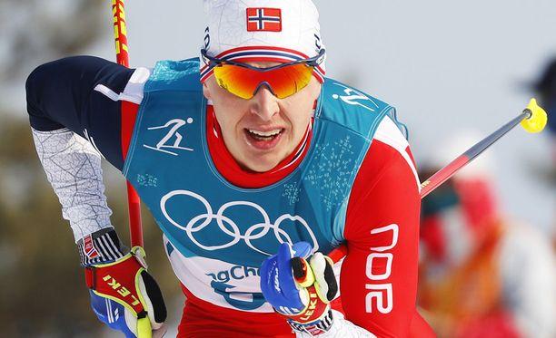 Simen Hegstad Krüger voitti uransa ensimmäisissä aikuisten arvokisoissa kaksi olympiakultaa ja yhden -hopean.
