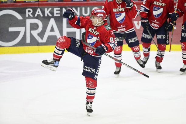 Joonas Raskin poissaolo rikkoi HIFK:n ykkösketjun.
