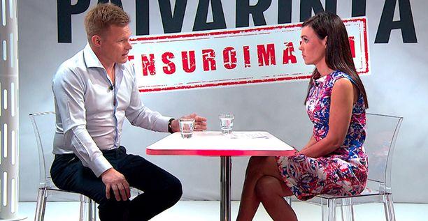Mika Salo kertoi nykykuulumisiaan Susanne Päivärinnalle.