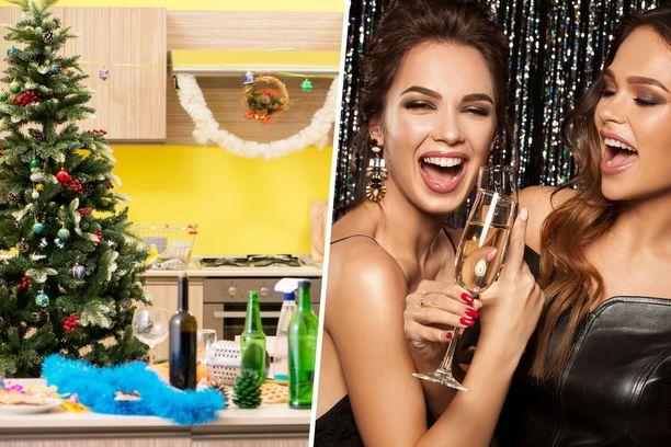 Muista, ettei ennen juhlia kannata siivota itseään uuvuksiin, koska juhlien jälkeen joudut taas siivoamaan. Illan aikana syntyvät tahrat kannattaa puhdistaa heti, sillä ne lähtevät parhaiten pois tuoreeltaan.