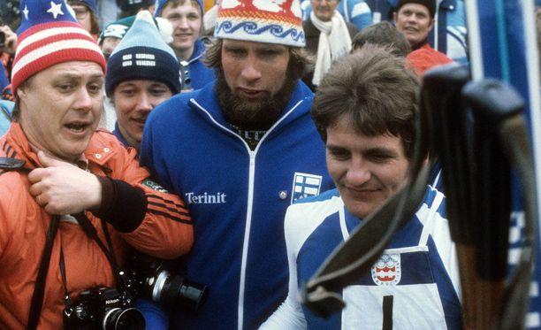 Juha Mieto ja Arto Koivisto tähdittivät Suomen kultaviestijoukkuetta Innsbruckissa 1976.