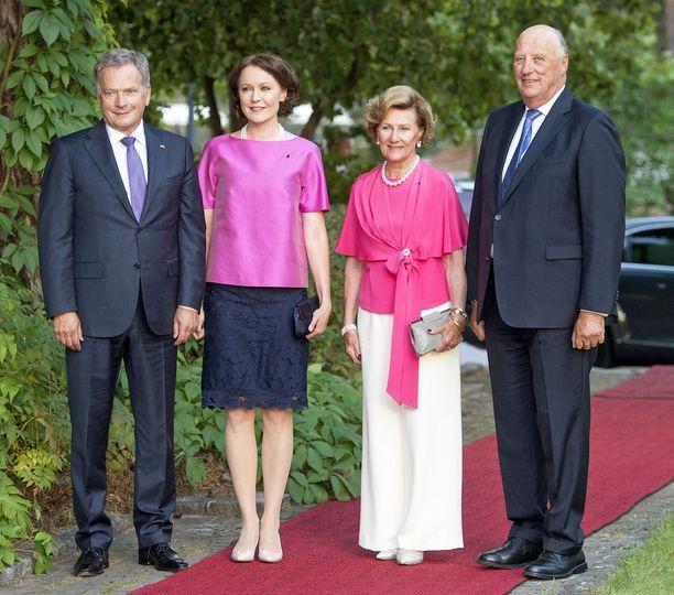 Tasavallan presidentti Sauli Niinistö ja rouva Jenni Haukio isännöivät Norjan kuningasparin vierailua Suomessa viimeksi syyskuussa.