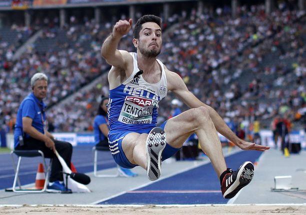Miltiadis Tentoglou otti pituuden EM-kultaa tuloksella 825.