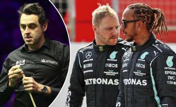 Ronnie O'Sullivan pitää Valtteri Bottaksen ja Lewis Hamiltonin Mersulta saamaa etua varsin suurena.