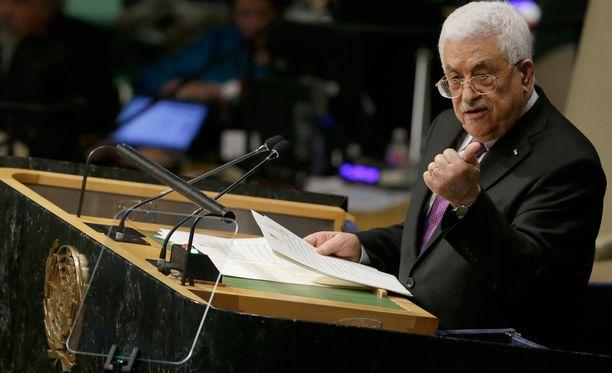 Mahmud Abbas puhui keskiviikkona YK:n yleiskokouksessa.