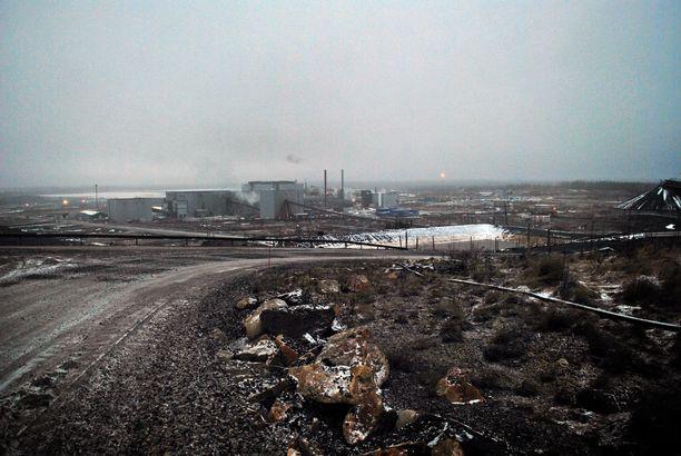 Talvivaaran kaivosaluetta vuonna 2014.