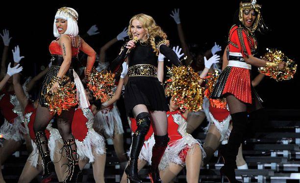 Nicki Minajin ja Madonnan kanssa esiintynyt M.I.A. otti taiteellisia vapauksia.