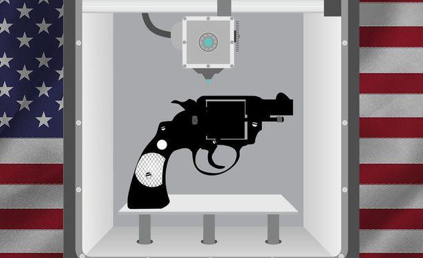 Yhdysvalloissa voi nyt sanavapauteen vedoten tulostaa itselleen aseen osia. Kuvituskuva.