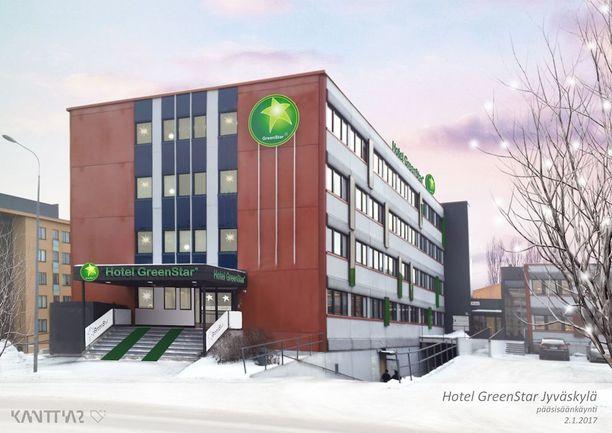 Uusi ympäristöystävällinen hotelli avataan Jyväskylään ensi vuonna. GreenStar haluaa laajentaa toimintaansa yliopistokaupunkeihin noin kymmenen hotellin ketjuksi.