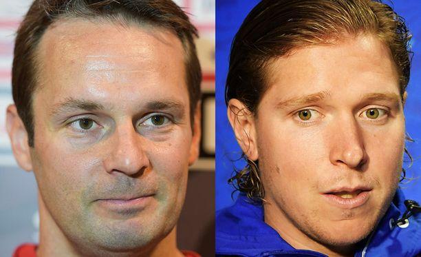Niklas (vas.) ja Nicklas (oik.) Bäckström eivät ole sukua keskenään.