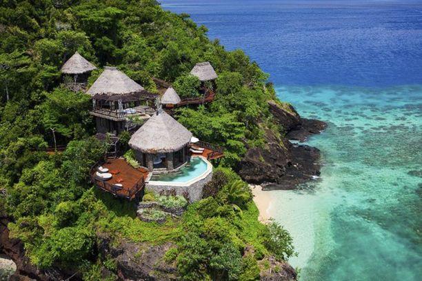 Ylellinen Laucala Resort kelpasi Ruotsin prinssi Carl Philipille häämatkakohteeksi.