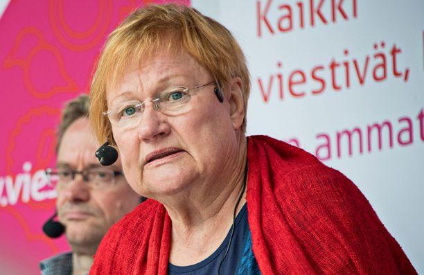 Tarja Halonen osallistui aiemmin tässä kuussa Porissa Suomi-areena-tapahtumaan.