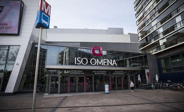 Kauppakeskus Isoa Omenaa uhattiin Tor-verkossa. Iso Omena sijaitsee Espoon Matinkylässä.