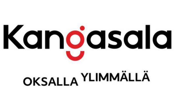 Kangasalan logossa huomion keskipisteenä on punainen g-kirjain.