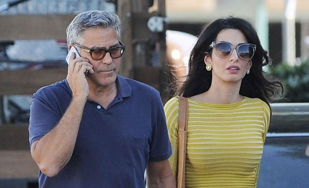 George ja Amal Clooney kuvattiin lokakuussa 2016 Los Angelesissa.