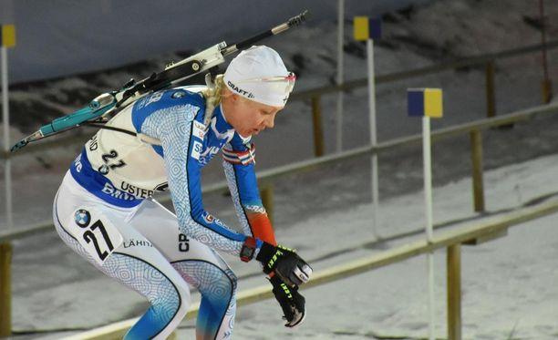 Kaisa Mäkäräisellä oli vaikea kisa Ruotsissa.