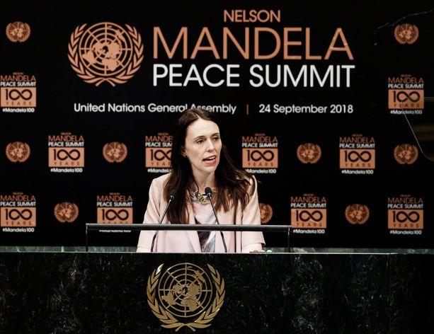 Ardern puhui ensi kertaa YK:n yleiskokouksessa.