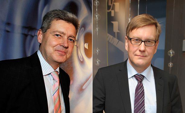 Yleisradion toimitusjohtaja Lauri Kivinen (vas.) ja vastaava päätoimittaja Atte Jääskeläinen saavat yhä Ylen hallituksen luottamuksen.