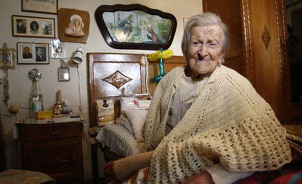 Italialainen Emma Morano kuvattiin viime marraskuussa, jolloin hän täytti 117 vuotta.