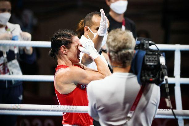 Mira Potkonen voitti toisen ottelunsa perjantaina.