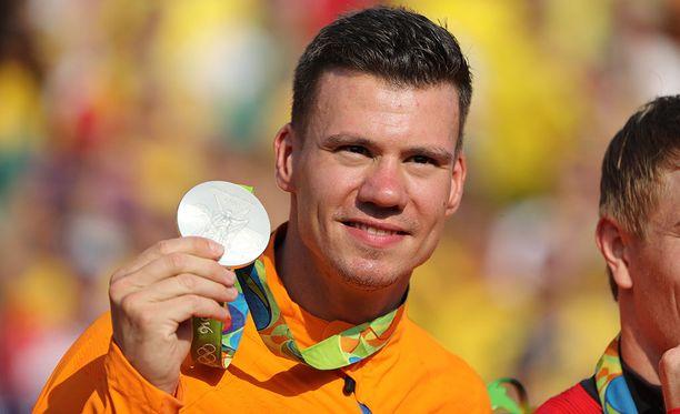 Jelle van Gorkom voitti BMX-pyöräilyn hopeaa Riossa 2016. Kultamitali meni USA:n Connor Fieldsille ja pronssi Kolumbian Carlos Alberto Ramirez Yepesille.