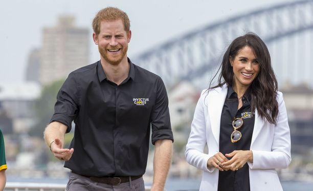 Prinssi Harry ja Meghan tekivät lokakuussa ensimmäisen edustusmatkan Australiaan.