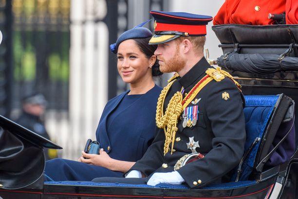 Herttuatar Meghan ja prinssi Harry kesäkuussa 2018.