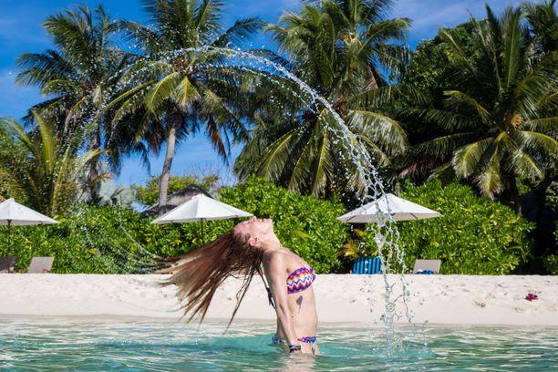 Rantaelämän lisäksi Malediiveilla voi harrasta vesiurheilua.