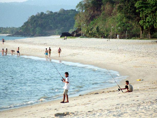 Langkawin saariryhmä Thaimaan ja Malesian rajalla on suosittu lomakohde.