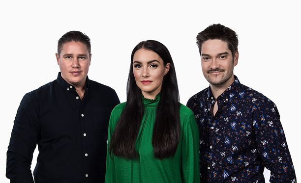 Tuomarit Tomi Björck, Sara La Fountain ja Henri Alén.