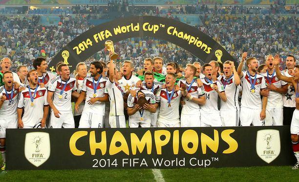 Neljä vuotta sitten MM-kisat päättyivät Saksan juhliin.