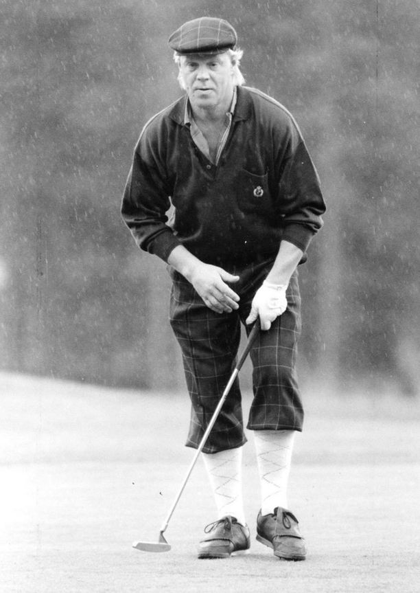 Vesku golfin pauloissa kesällä 1989.