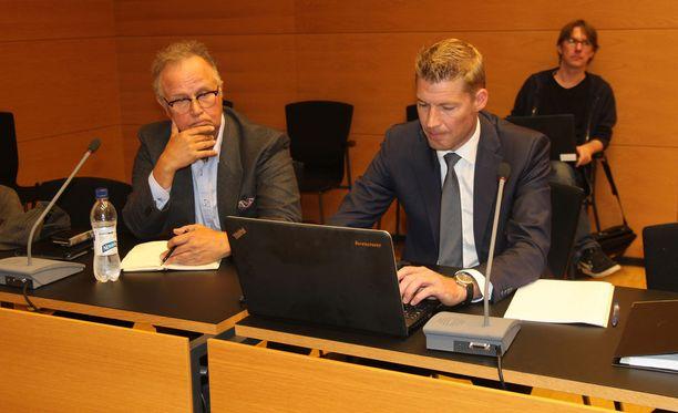 Timo Kojo oikeudessa elokuun 16. päivänä tapauksen ensimmäisenä käsittelypäivänä.