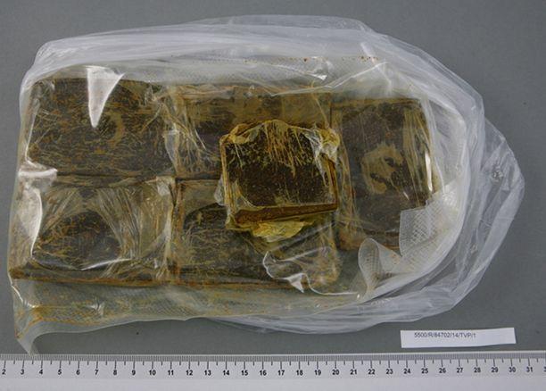 Kuvan AB-CHMINACA-muuntohuume-erä löytyi Suomesta joulukuussa.