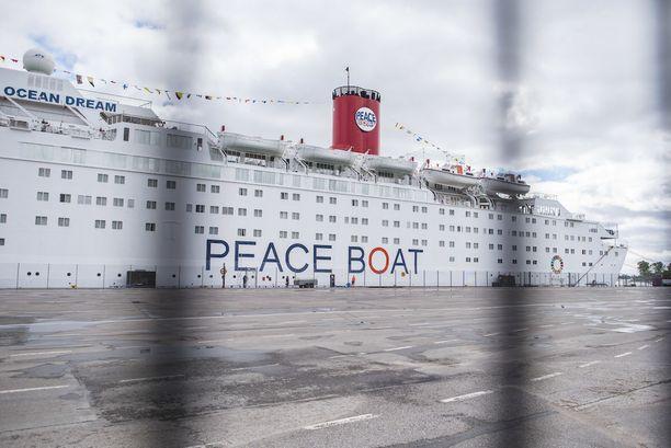 Hiroshiman selviytyjät tulivat keskiviikkona japanilaisjohtoisen Peace Boat -järjestön laivalla Suomeen.