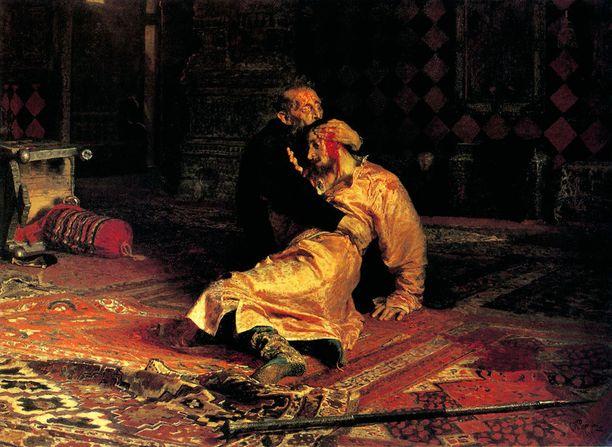 Todennäköisesti humalassa ollut mies vahingoitti Ilja Repinin kuuluisaa maalausta Iivana Julmasta.